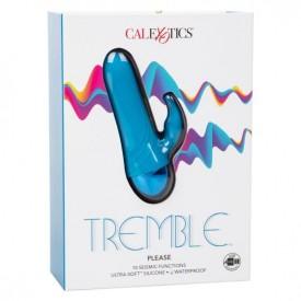 Голубой мини-вибратор Tremble Please - 12 см.